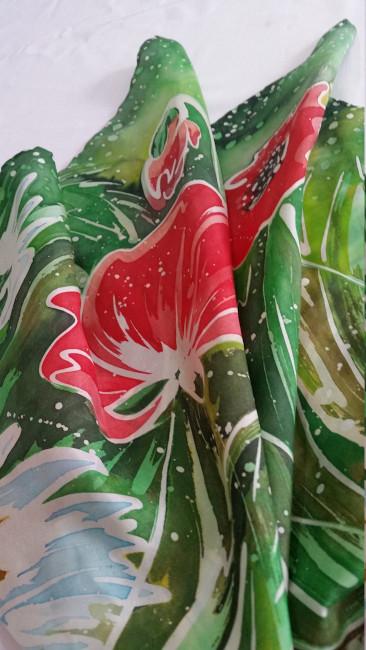 Silk scarf Anemones 8