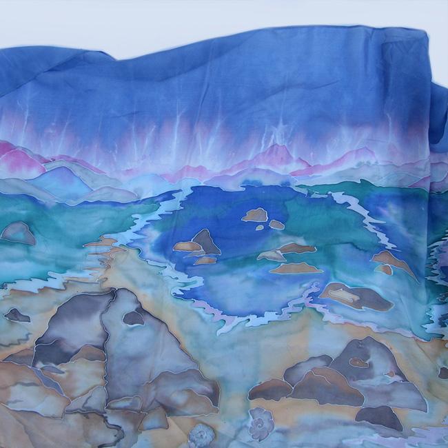 Silk scarf Maritime Landscape 1