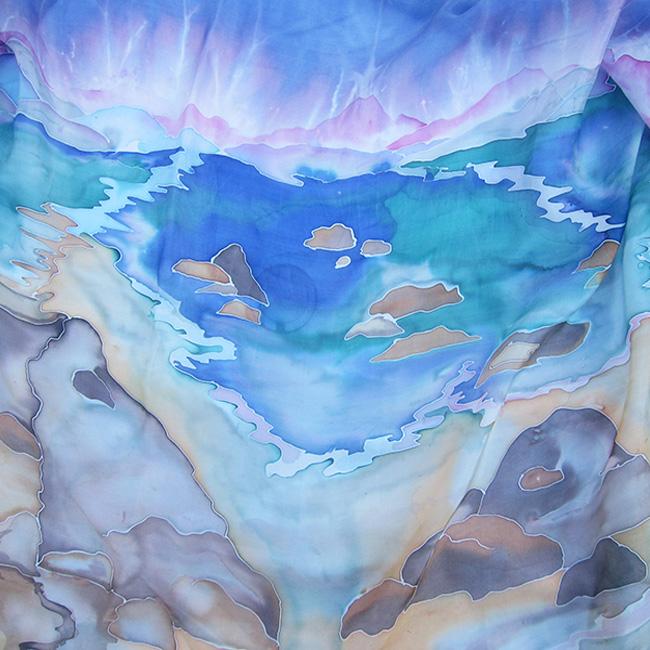 Silk scarf Maritime Landscape 3