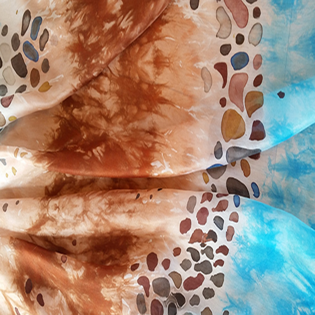 Silk scarf Sea and Stones 5