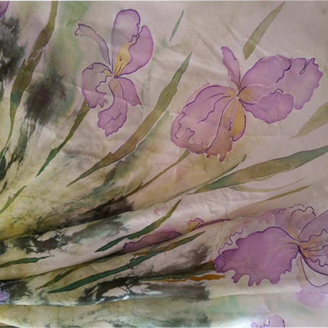 Silk wrap purple iris 1